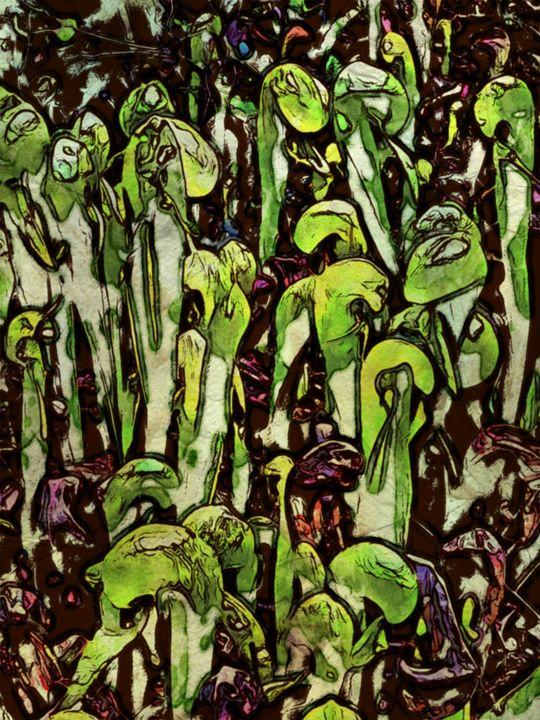 Bean Stalks - Prints by Michel
