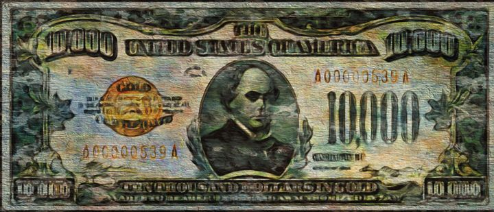 $10000 Bill - Prints by Michel