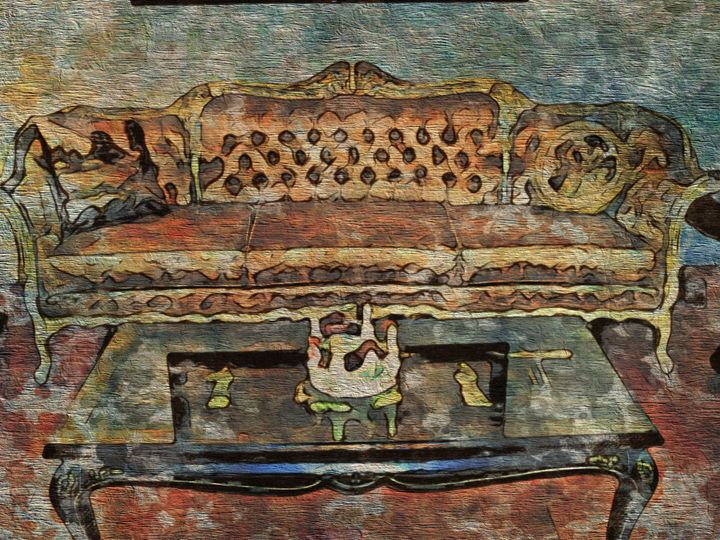 Antique Sofa - Prints by Michel
