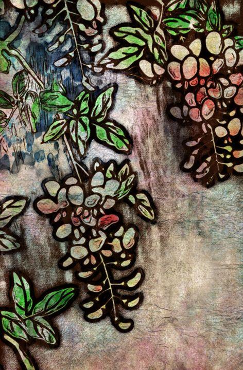 Asian Flower Falls - Prints by Michel