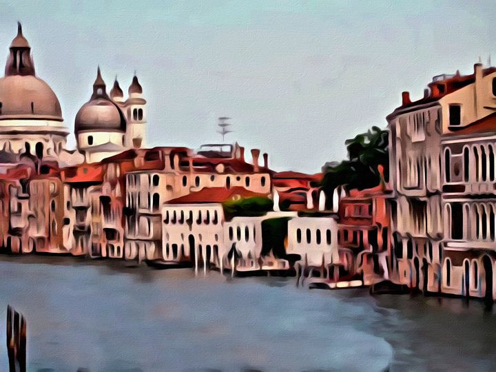 Romantic Venice Scene - Prints by Michel