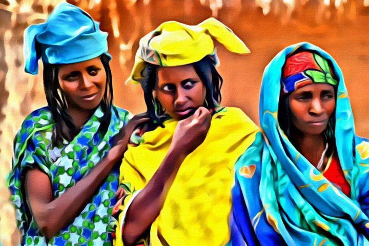 African Women - Prints by Michel