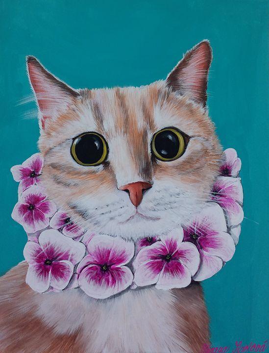 """Love my Hawaiian scarf"" - Cats Love Shoes"