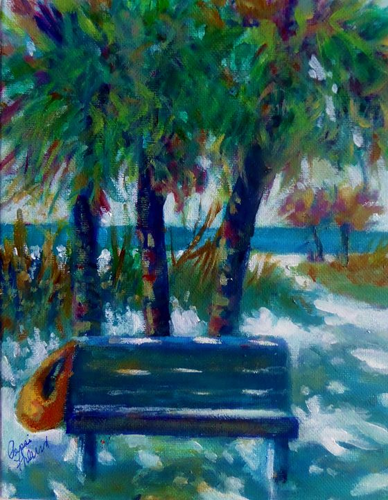 Beach Bench - Pepsiart