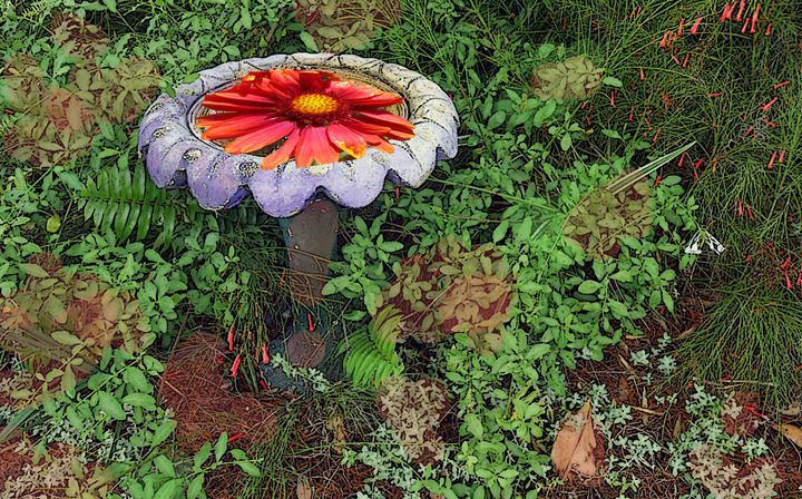 Flower Fountain - Pepsiart