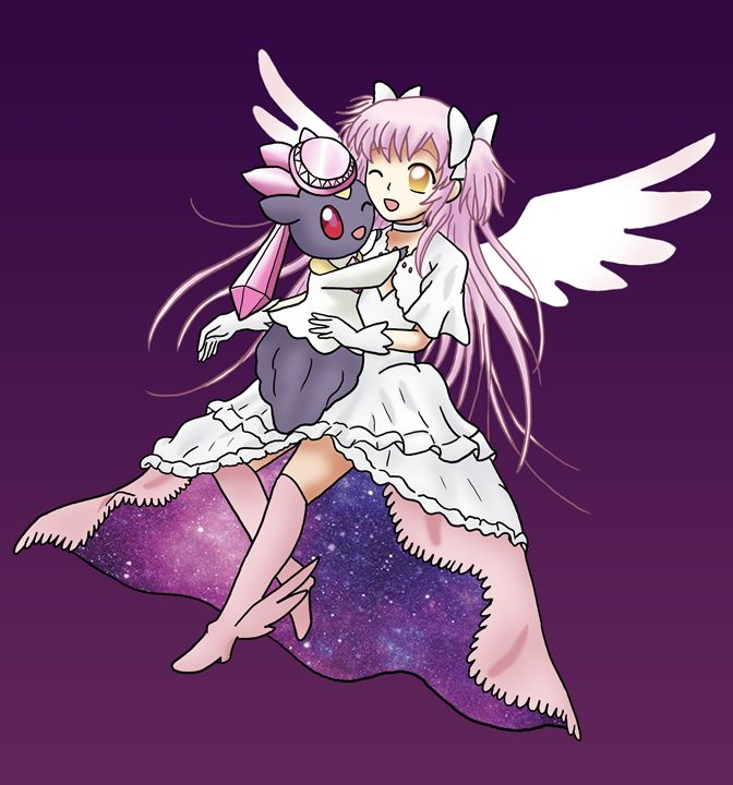 Goddess Madoka and Diancie - CardcaptorKatara