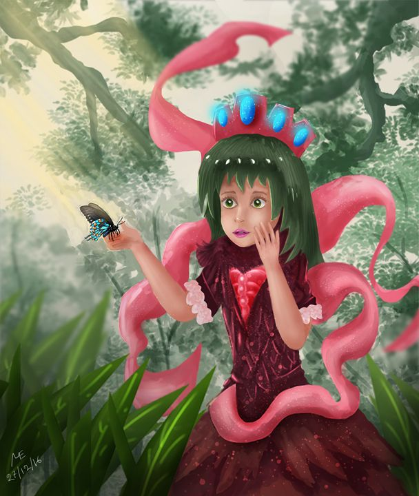 Cute Girl in Enchanted Forest - Artisan