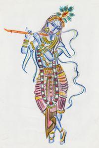 Colourful Krishna