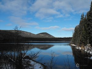 Lake in Chic-choc Mountains Quebec