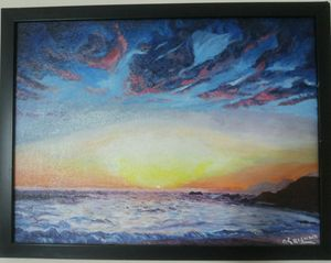 abstract of seashore