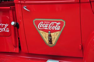 Coca Cola Logo Pickup Truck - Fine Art by Debby