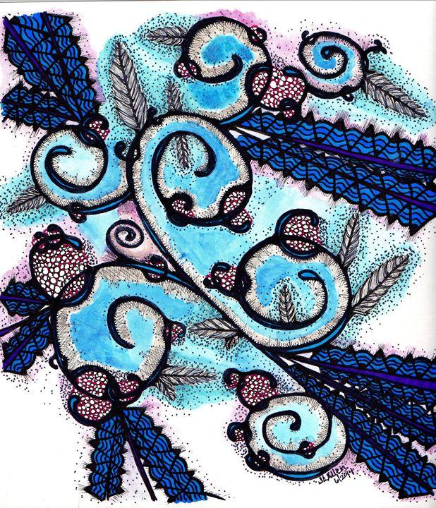 Blue Waves - jlallen artfull designs
