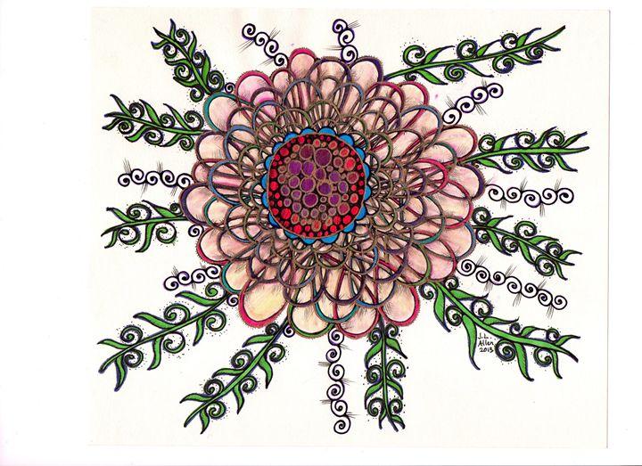 Open Heart Flower - jlallen artfull designs