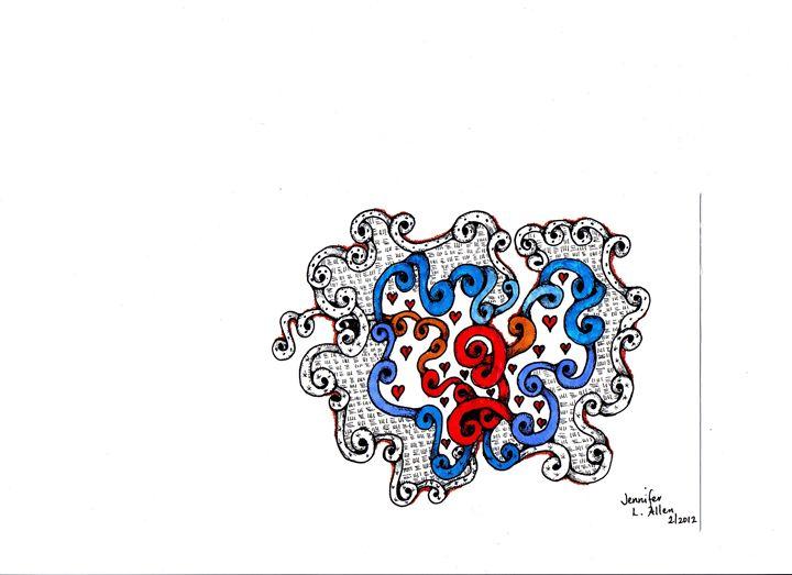 Embraced Hearts - jlallen artfull designs