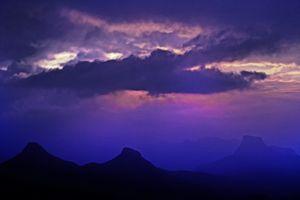 mountain view sky