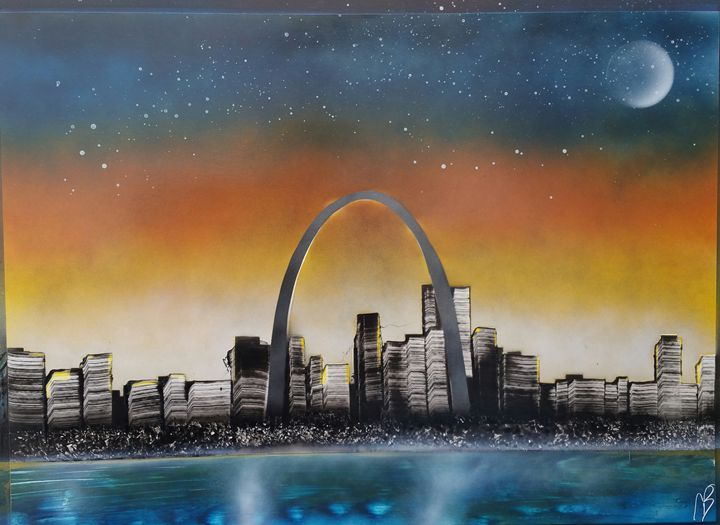 St. Louis Skyline - Nathan's Spray Monay