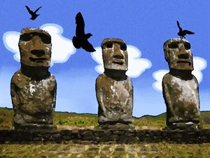 Manny, Moai and Jack