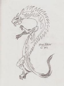 Tribal Wingless Dragon