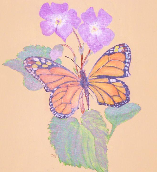 Monarch w/Violet - Dan Bader
