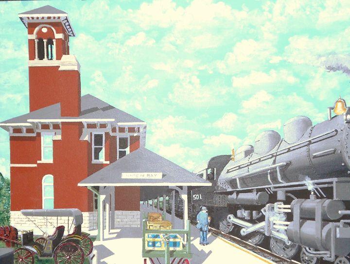 Green Bay Station Circa 1910 - Dan Bader