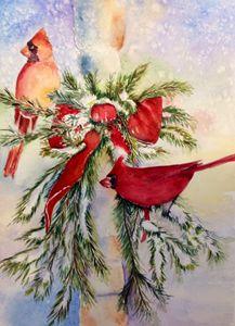 Christmas time- Cardinals