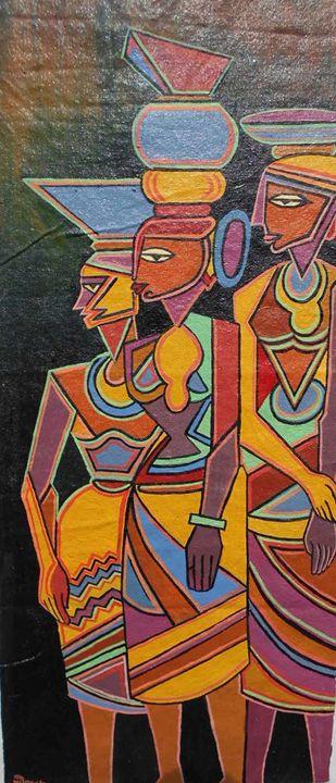 Three woman labor - Shribas Adhikary