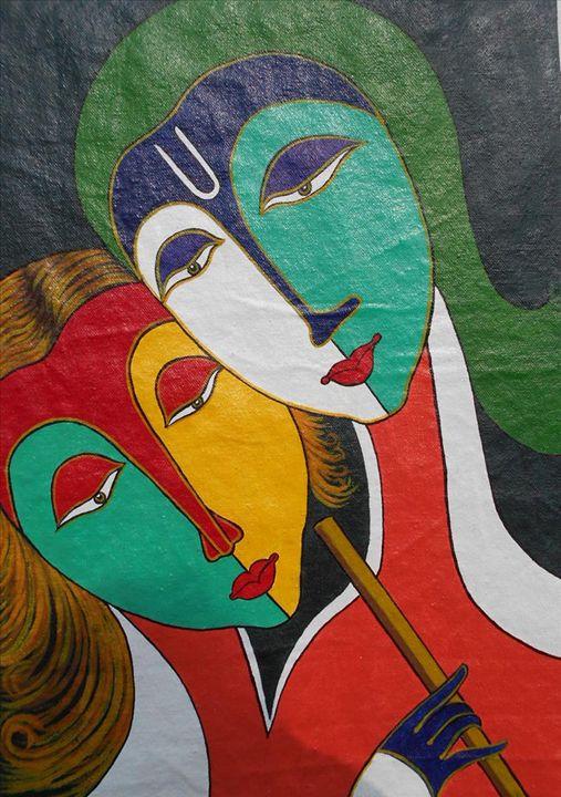 God Radha & Krishna - Shribas Adhikary