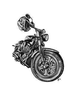 Motorcycle in Charcoal