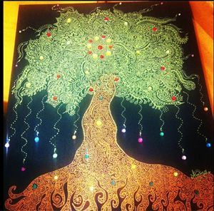 Tree inspired by Henna Designs