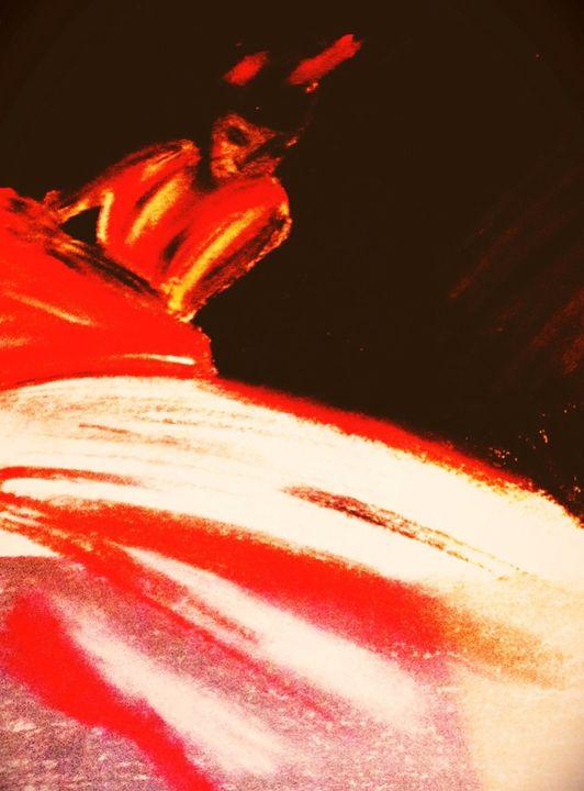 Dancer a blaze - Sarah's original artwork