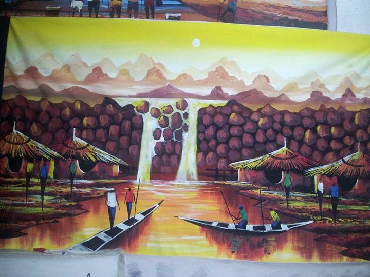 water fall - wisdom paintings