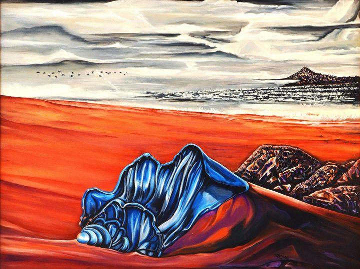 Blue Seashell on the Seashore - Ron Godley