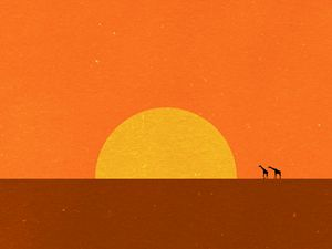 minimal african sun set