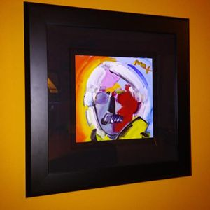 """Peter Max """"Andy Warhol with Mustach"""""""