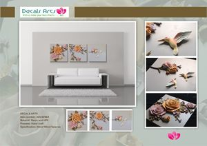 DECALS ARTS 3D EMBOSSED PAINTINGS