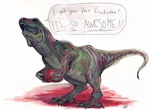 Gift Giving T-Rex - Look What We Made