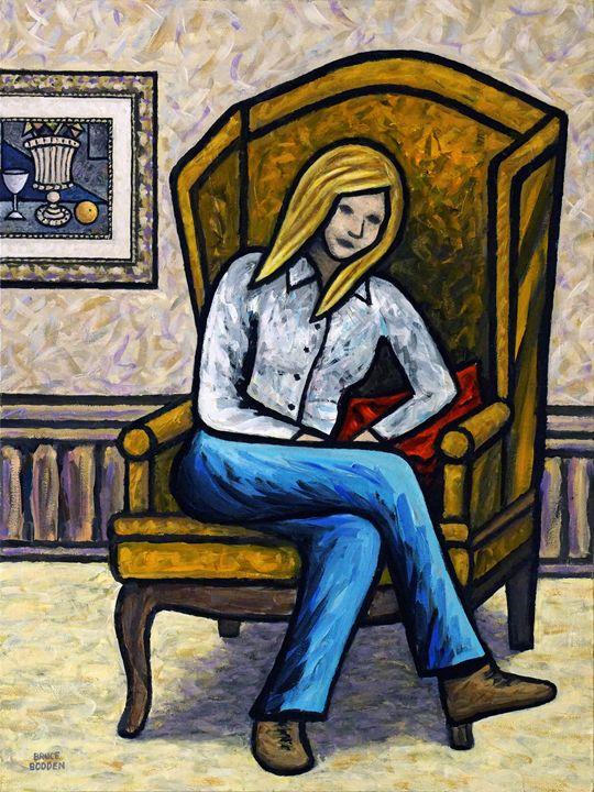 Girl On Orange Chair #2 - Bruce Bodden