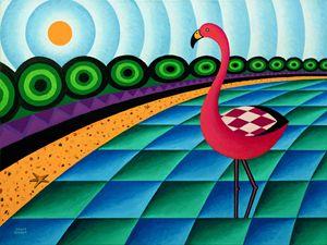 Flamingo In Lagoon