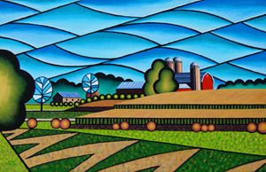 Farm By Hwy 28 Old Painting