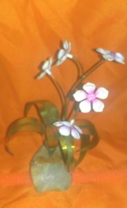 """Flower Art""  Sculpture - Arpad Royal"