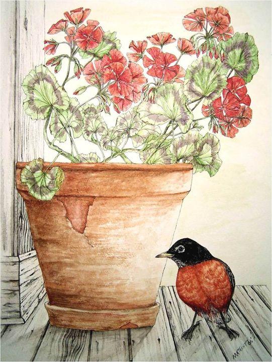 Grandma's Geraniums - Michael A.Trent