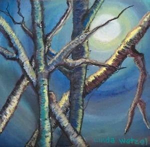 Moonlit Birches