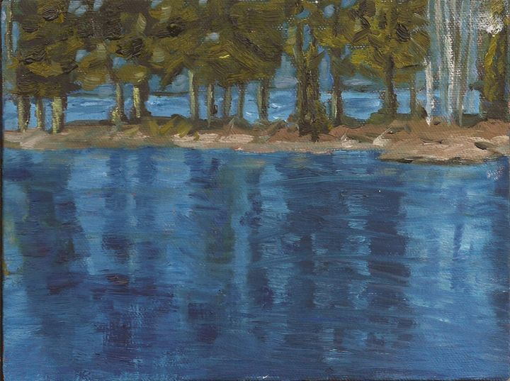 Christina Creek Spring Flood - Evelyn Oldroyd Painting
