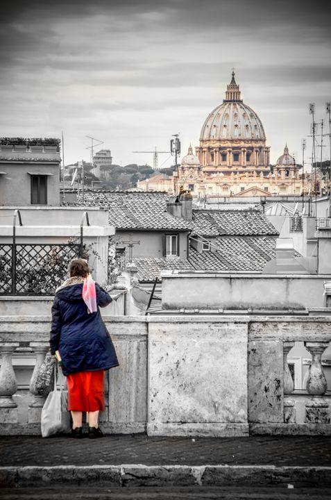 Rome canvas dramatic black and white - FineArt Italia