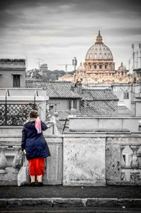Rome canvas dramatic black and white