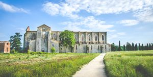 San Galgano ruins Siena tuscany