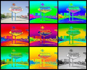Vegas Sign Warhol Black