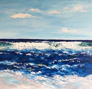 Maui Ocean 36x36 Original Painting