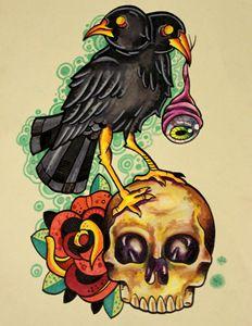2 headed crow