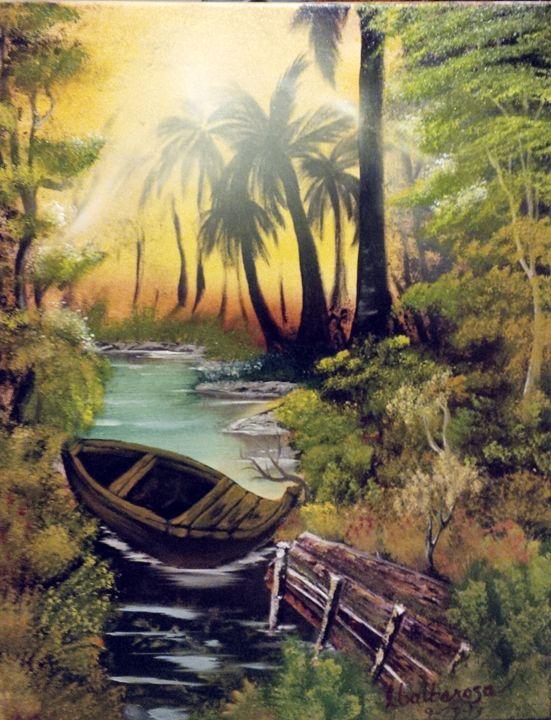 Creek side by Lloyd B. - Lloyd